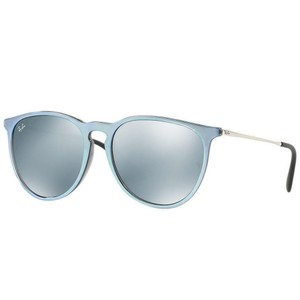 Ray-Ban Silver Mirrored Lens RB4171F 631930 57 Erika Classic Unisex Pilot