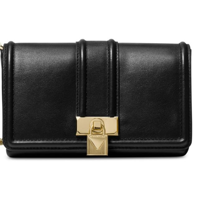 Item - Crossbody Padlock Black with Gold Detail Chain Leather Shoulder Bag