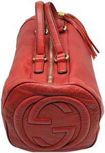 Gucci Gg Monogram Double G Boston Satchel in Red