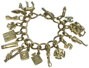 Chanel Chanel Gold Vintage Charm Bracelet with 16 Iconic Charms