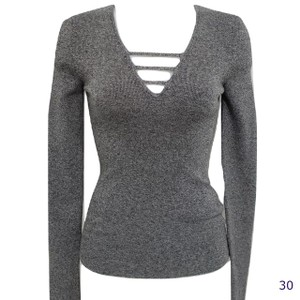 Express V-neck Strappy Detail Sweater
