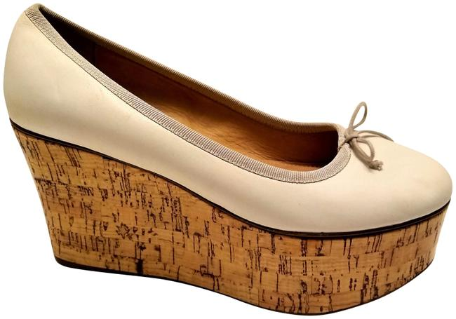 Item - Off White Slip-on Cork Wedges Platforms Size US 7 Regular (M, B)