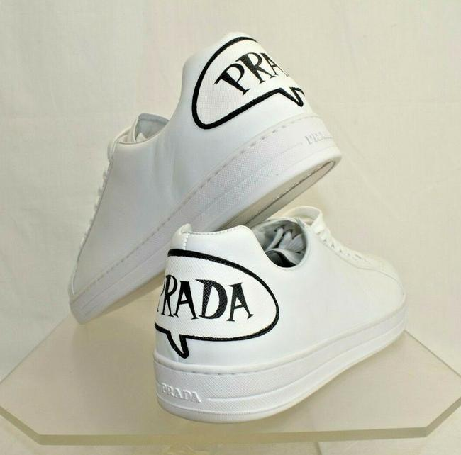 Item - White 4e3299 Leather Textured Logo Lace Up Low Top Sneakers 11 Us 12 Shoes