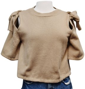 ADEAM Knit Cropped Cotton Sweater