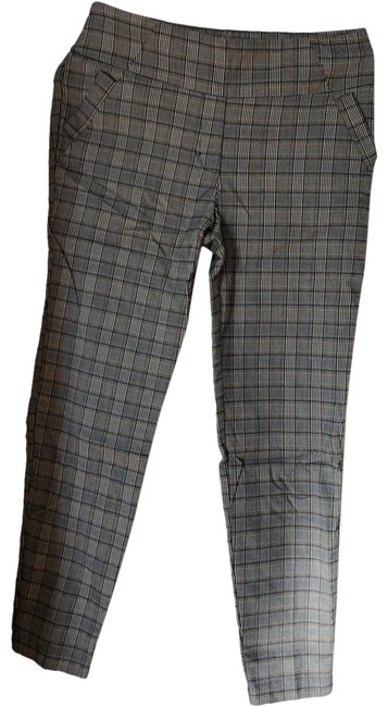 Item - Grey Black White and Gold Houndstooth Plaid 11138577 Capris Size 10 (M, 31)