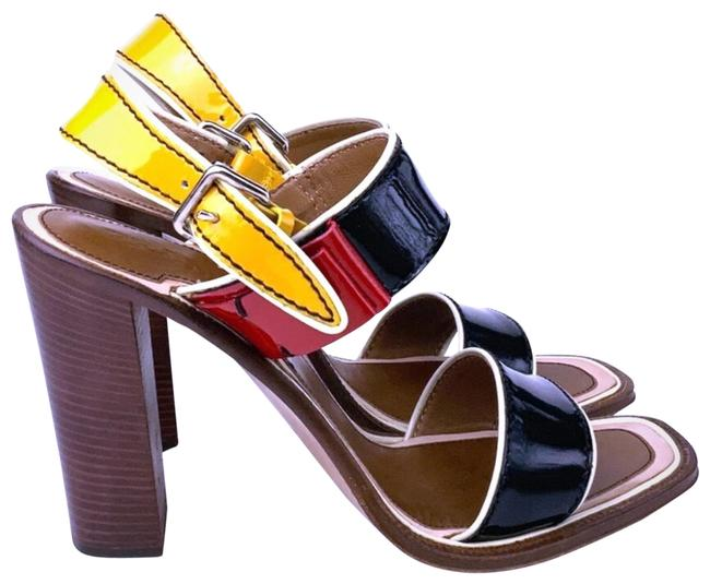 Item - Yellow Red and Black Rasta Colorblock Sandals Size US 10 Regular (M, B)