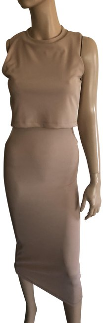 Item - Nude Mid-length Cocktail Dress Size 6 (S)