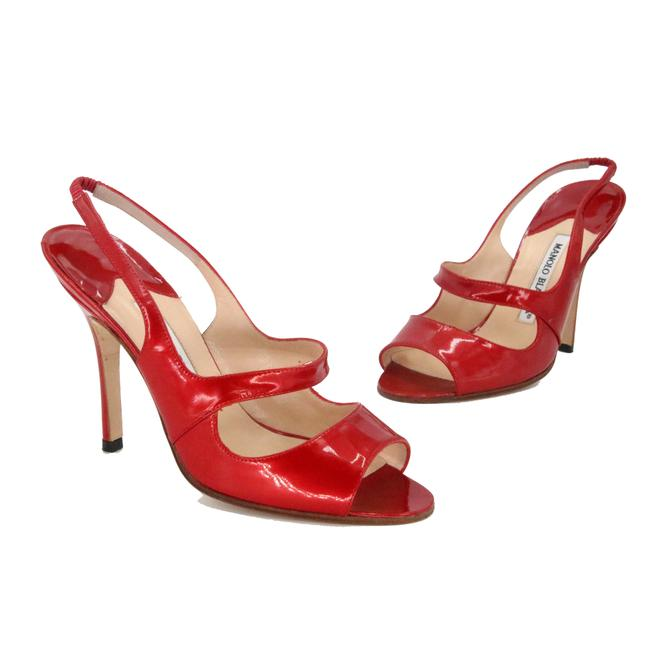 Item - Red Patent Leather Open Pumps Size US 5.5 Regular (M, B)