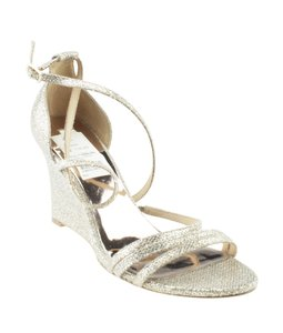 Badgley Mischka Sequin Silver Wedges