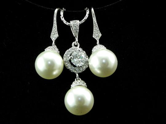Other Swarovski Pearl Earrings And Necklace Set Pearl Matching Jewelry Wedding Jewelry Bridal Gift Bridal Jewelry Gift