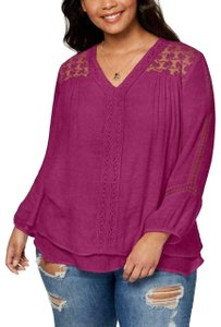 Style & Co Style & Co. Women's Layered 3/4 Sleeves V-Neck Pullover Top