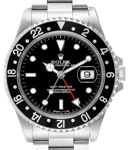 Rolex Rolex GMT Master Black Bezel Automatic Steel Mens Watch 16700