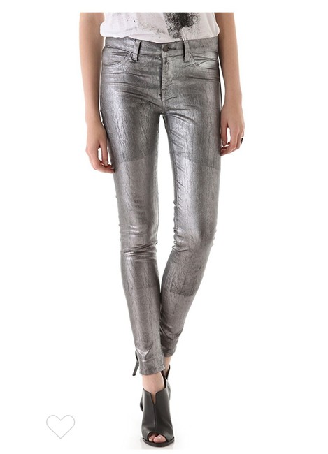 Item - Silver Coated Legging Skinny Jeans Size 8 (M, 29, 30)
