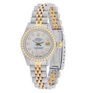Rolex Rolex Silver and Yellow Gold Two Tone Datejust Lady 26mm with Diamonds