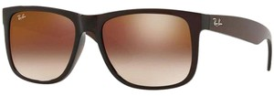 Ray-Ban Brown/Red Gradient/Mirrored Lens RB4165 714/S0 Unisex Square