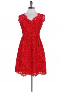 Madison Marcus short dress red Day Lace on Tradesy