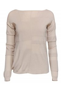 Brochu Walker Beige Lightweight Cotton Sweater
