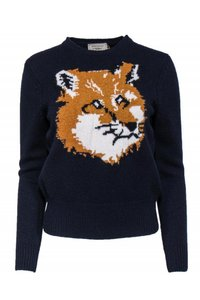 Maison Kitsune Navy Sweater