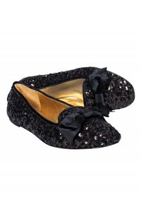 Kate Spade Gold Sequined black Flats
