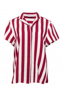 Red Valentino Shirts Cream Striped Top red