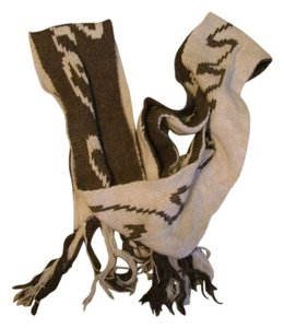 Abercrombie & Fitch Abercrombie brown/tan scarf