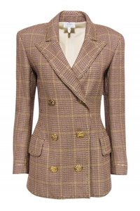 Valentino Jackets Patterned Double brown Blazer