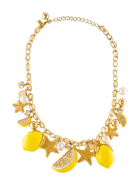 Item - Yellow Lemon Tart Charm Necklace