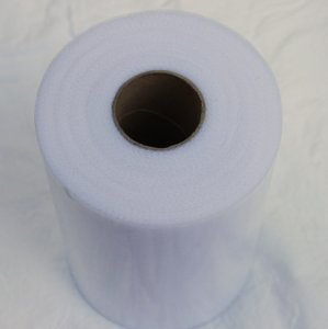 White Tulle Roll 6 In X 100 Yard - 6 Inch Tulle Spool - 100 Yard - Big Roll Of Tulle