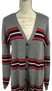 Democracy Striped Longsleeve Embroidered Alpaca Knit Sweater