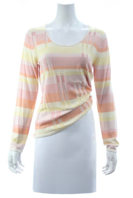 Item - Belford For Multicolored Pastel Silk Knit Pink Sweater