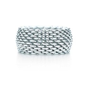 Tiffany & Co. Retired somerset wide mesh ring