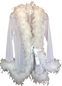 Be Wicked Be Wicked Lingerie Glamour Bride-To-Be Bachelorette Feather Robe