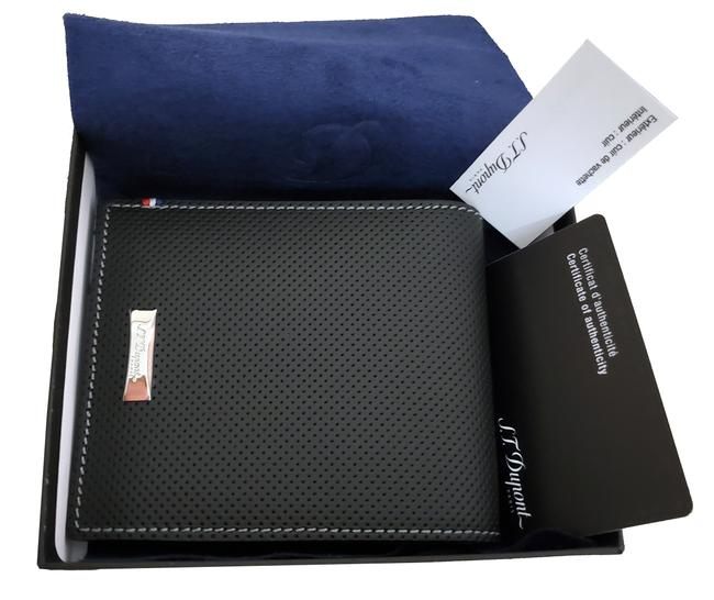 Item - Black 170402 Défi Perforated 8 Card Leather Wallet