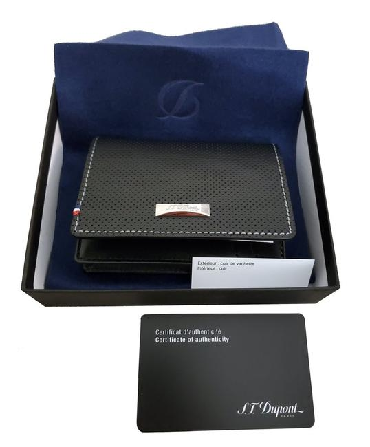 Item - Black 170404 Défi Perforated Gusseted Business Card Holde Wallet