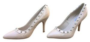 Steve Madden Heels Patent Leather Valentino Studded Nude Pumps