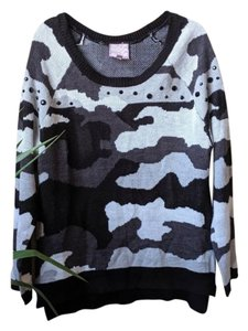 Romeo & Juliet Couture Camo Beaded Embellished Sweater