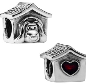 PANDORA Jeweled Dog House Charm