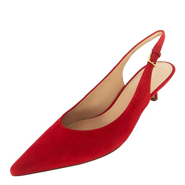 Item - Red Pocosling Kitten Heel Pumps Size US 8 Regular (M, B)