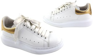 Alexander McQueen Larry Latino Leather Sneakers White Athletic