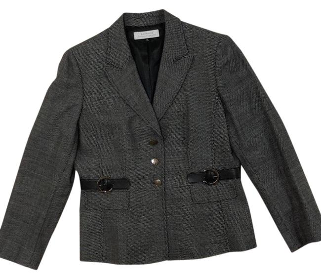 Item - Black and White Belted Blazer Size 14 (L)