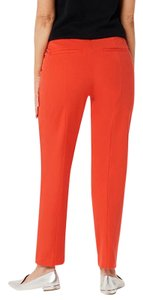 Isaac Mizrahi Live! Petite Stretch Wide Straight Pants Red