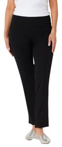 Isaac Mizrahi Live! Stretch Wide Waistband Ankle Relaxed Pants Black