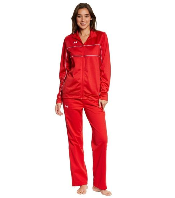 Item - Red Women's Rival Knit Warm-up Activewear Outerwear Size 8 (M)