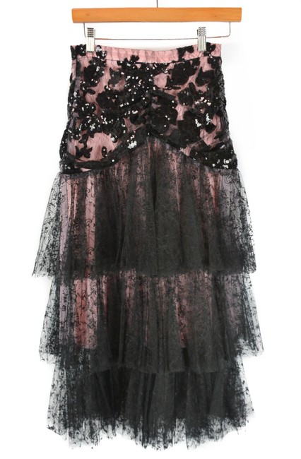 Item - Black Tiered Lace Skirt Size 4 (S, 27)