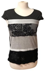 Desigual T Shirt black gray silver