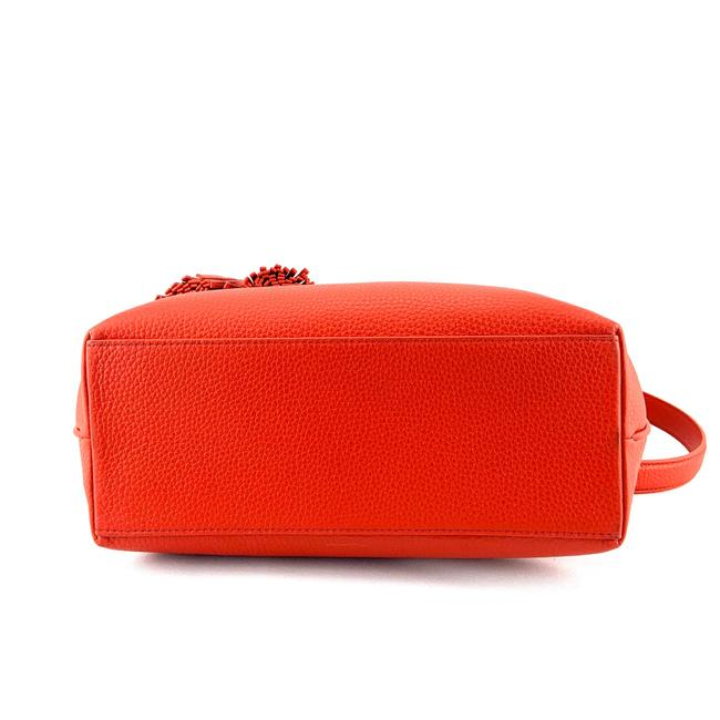 Tory Burch Thea Small Convertible Red Pebbled Leather Tote Tory Burch Thea Small Convertible Red Pebbled Leather Tote Image 5