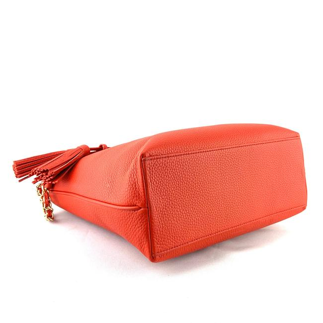 Tory Burch Thea Small Convertible Red Pebbled Leather Tote Tory Burch Thea Small Convertible Red Pebbled Leather Tote Image 6