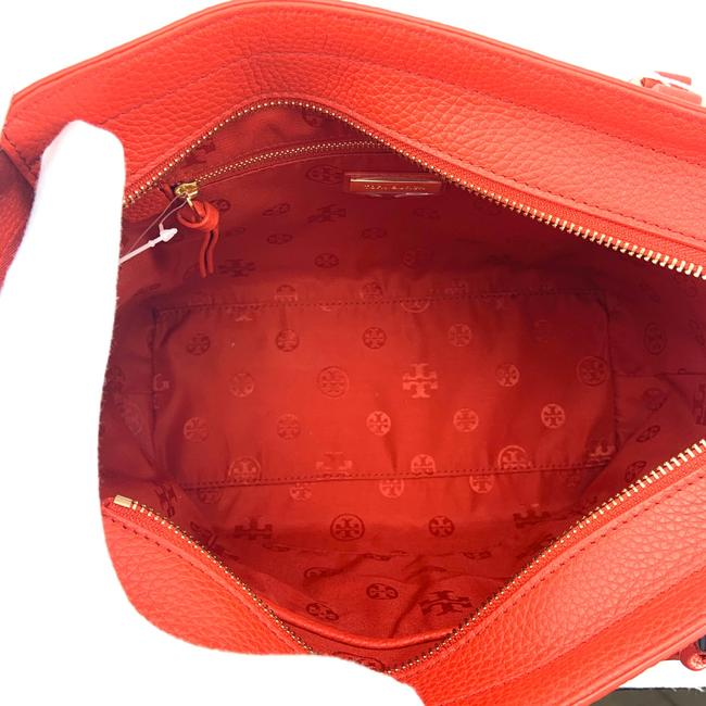 Tory Burch Thea Small Convertible Red Pebbled Leather Tote Tory Burch Thea Small Convertible Red Pebbled Leather Tote Image 8