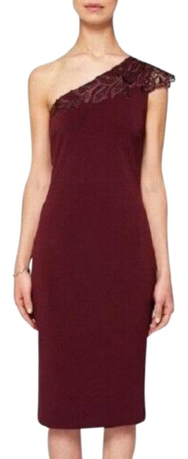 Item - Red Jalis Mid-length Cocktail Dress Size 4 (S)