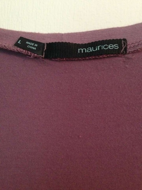 Maurices Ruffle Chiffon Stretchy Cotton New Burnt Top purple